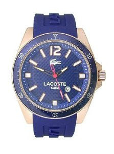 Lacoste Seattle Three-Hand Rose Gold and Purple Silicone Mens watch #2010750
