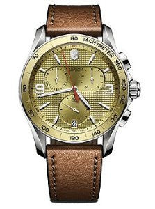 Victorinox Swiss Army Chrono Classic Gold-Tone Dial Mens Watch #241659