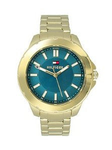 Tommy Hilfiger Three-Hand Gold-Tone Stainless Steel Womens watch #1781433
