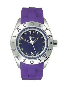 Lacoste Biarritz Three-Hand Silver and Purple Silicone Womens watch #2000750