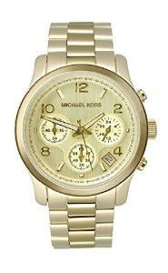 Michael Kors Gold-tone Steel Chronograph Gold Dial Unisex Watch #MK5055