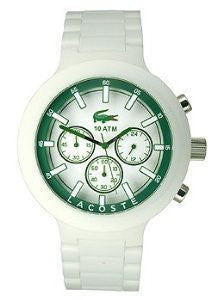 Lacoste Borneo Chronograph White Polycarbonate Mens watch #2010757