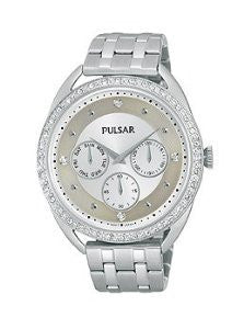 Pulsar Night Out Multifunction Stainless Steel Womens watch #PP6177