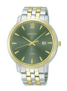 Seiko Three-Hand Date Two-Tone Stainless Steel Mens watch #SUR126