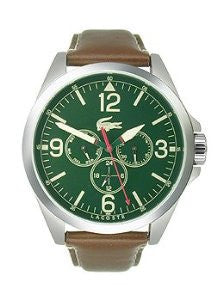 Lacoste Montreal Multifunction Brown Leather Mens watch #2010806