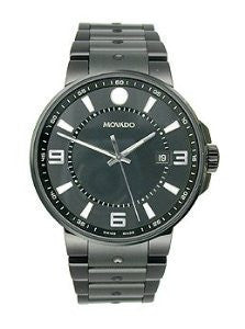 Movado SE Pilot Black Stainless Steel Mens watch #0606809