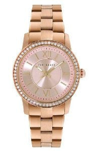 Ted Baker Three-Hand Stainless Steel - Rose-Gold Womens watch #TE4096