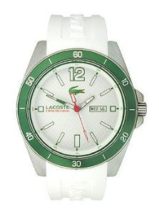 Lacoste Seattle Three-Hand White Silicone Mens watch #2010802