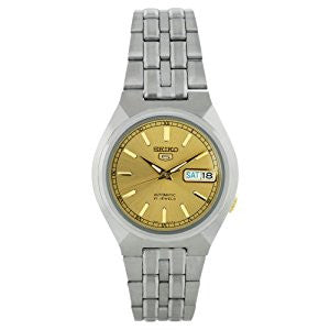 Men's SNK303K Stainless Steel Analog with Gold Dial Watch