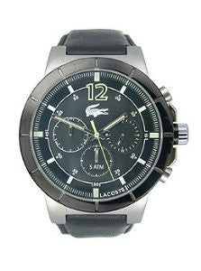 Lacoste Darwin Chronograph Black Leather Mens watch #2010743