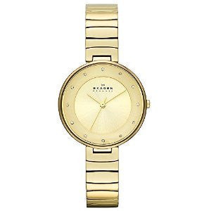 Skagen Gitte Gold-Tone Stainless Steel Womens watch #SKW2226