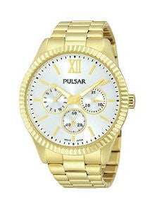 Pulsar Multifunction Stainless Steel - Gold-Tone Womens watch #PP6140