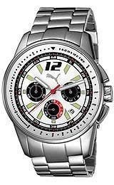 Puma Bracelets Race Chronograph White Dial Mens watch #PU102161002