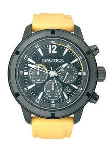Nautica NSR 19 Chrono Silicone - Yellow Mens watch #N18711G