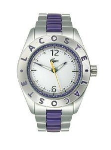 Lacoste Biarritz Three-Hand Silver-Tone Stainless Steel Womens watch #2000752