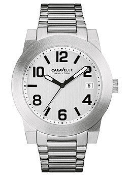 Caravelle New York Three-Hand Stainless Steel Mens watch #43B142