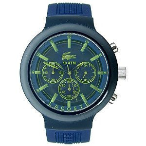 Lacoste Borneo Chronograph Navy Silicone Mens watch #2010797
