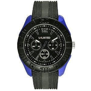 Unlisted Three-Hand Black Silicone Mens watch #UL1320