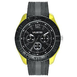 Unlisted Three-Hand Black Silicone Mens watch #UL1322