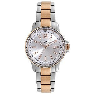 Tommy Bahama Island Breeze Silver and Rose Gold-Tone Stainless Steel Womens watch #TB4070