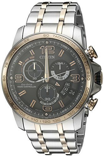 Eco-Drive Men's BY0106-55H Chrono-Time A-T Analog Display Two Tone Watch