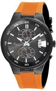 Kenneth Cole New York Chronograph Silicone - Orange Mens watch #KC8051