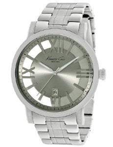 Kenneth Cole New York Grey Transparent Stainless Steel Mens watch #KC9315