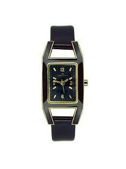 AK Anne Klein Anne Klein Womens Leather watch #10-8700BKBK