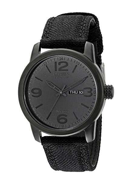 Men's BM8475-00F  Black Canvas Strap Eco-Drive Watch