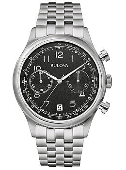 Bulova Classic Chronograph Stainless Steel Mens watch #96B234 Silver
