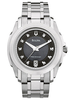Bulova Precisionist Longwood Black Dial Mens watch #96D110