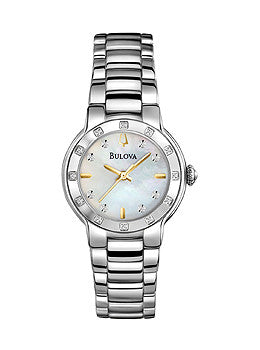 Bulova Diamond Three Hand Stainless Steel Womens watch #96R173
