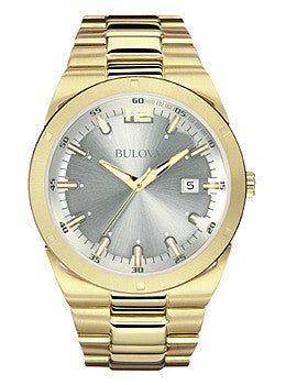 Bulova Classic Three-Hand Date Stainless Steel - Gold-Tone Mens watch #97B137
