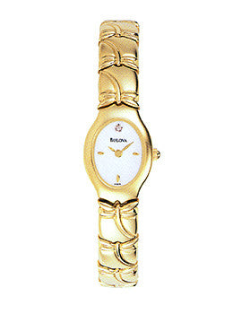 Bulova Diamond Collection Gold-Tone Womens watch #97S75