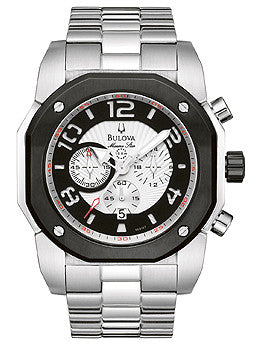 Bulova Marine Star Chronograph White Dial Mens watch #98B137