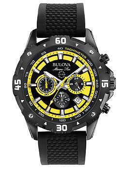 Bulova Marine Star Chronograph Silicone - Black Mens watch #98B176