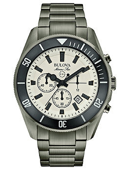 Bulova Marine Star Chronograph Stainless Steel - Black Mens watch #98B205