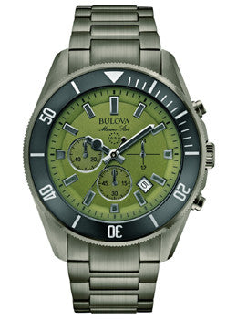 Bulova Marine Star Chronograph Stainless Steel - Black Mens watch #98B206