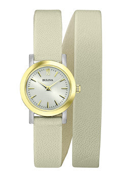 Bulova Dress Double-Wrap - Light Grey Womens watch #98L193