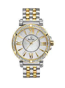 Bulova Diamond Two-Tone Steel Womens watch #98R167