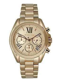 Michael Kors Mid-Size Rose Golden Stainless Steel Bradshaw Chronograph Womens watch #MK5799