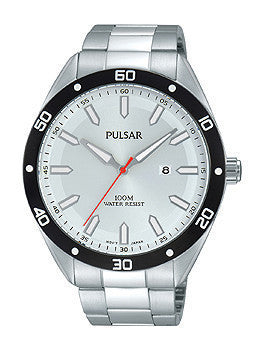 Pulsar Three-Hand Stainless Steel Mens watch #PH9093X