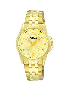 Pulsar Gold-Tone Stainless Steel Womens watch #PM2166