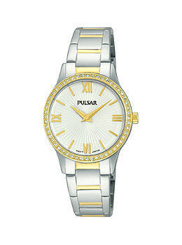 Pulsar Two-Tone Stainless Steel Womens watch #PM2168