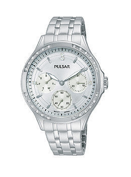 Pulsar Multifunction Stainless Steel Womens watch #PP6209