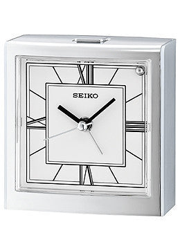 Seiko Chandler Quiet Sweep Bedside Alarm clock #QHE123SLH