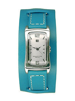 Kenneth Cole Reaction Turquoise Leather Cuff Womens watch #RK2072