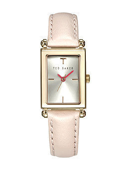 Ted Baker Three-Hand Pink Leather Womens watch #TE2115