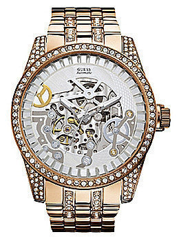 Guess Rose Gold-Tone Exhibition Mens watch #U0012G2