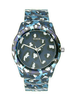 Guess Blue-Tone Safari-Inspired Sport Womens watch #U0425L1